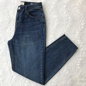 PACSUN CROPPED HIGH RISE STRAIGHT LEG MOM JEANS